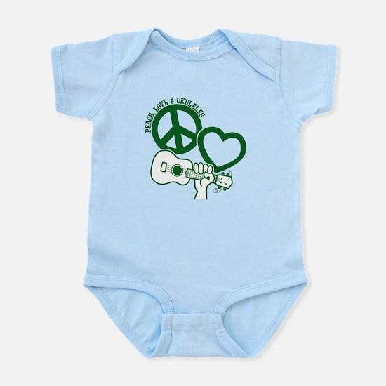 P, L, UKULELES Infant Bodysuit