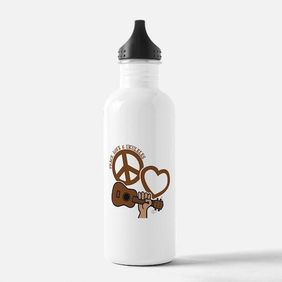 P, L, UKULELES Water Bottle