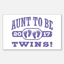 Aunt To Be Twins 2017 Decal