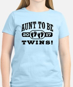 Aunt To Be Twins 2017 T-Shirt