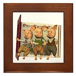 The Three Little Pigs Framed Tile