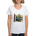 Al Alien Women's V-Neck T-Shirt