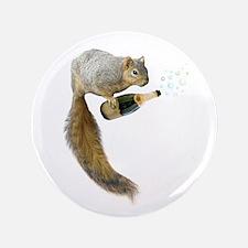 Squirrel Champagne Bubbles Button