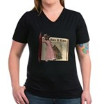 The Big Bad Wolf Women's V-Neck Dark T-Shirt