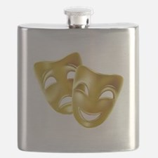 MASKS OF COMEDY & TRAGEDY Flask