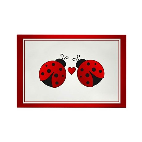 Ladybug Love Rectangle Magnet