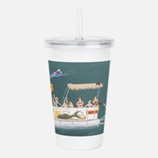 Cute Pontoon Acrylic Double-wall Tumbler
