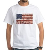 Red white and blue Mens White T-shirts