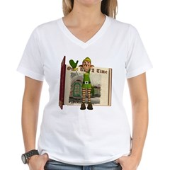Santa's Elf Women's V-Neck T-Shirt