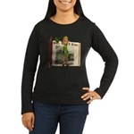Santa's Elf Women's Long Sleeve Dark T-Shirt