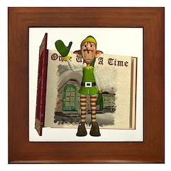 Santa's Elf Framed Tile