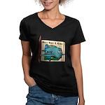 Emotiplane Women's V-Neck Dark T-Shirt