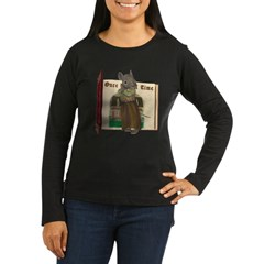Furry Friends Mouse Women's Long Sleeve Dark T-Shi