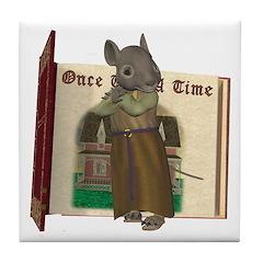 Furry Friends Mouse Tile Coaster