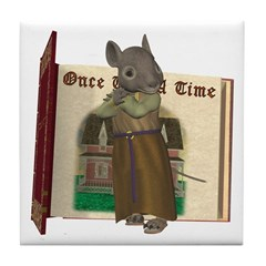 Furry Friends Mouse Tile Coaster