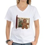 The Gingerbread Man Women's V-Neck T-Shirt