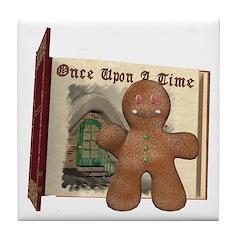 The Gingerbread Man Tile Coaster