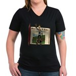 Hay Billy Women's V-Neck Dark T-Shirt