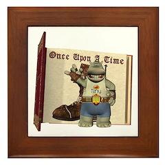Heath Hippo Framed Tile