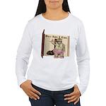 Heather Hippo Women's Long Sleeve T-Shirt