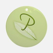 Leaves Monogram P Ornament (Round)