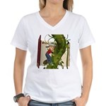 Jack 'N the Beanstalk Women's V-Neck T-Shirt