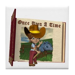 Cowgirl Kit Tile Coaster
