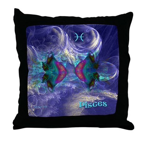 Pisces-square Throw Pillow