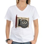 The Man in the Moon Women's V-Neck T-Shirt