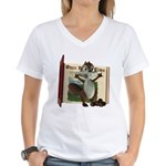 Nickie Squirrel Women's V-Neck T-Shirt