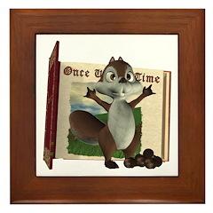 Nickie Squirrel Framed Tile
