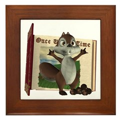 Nickie Squirrel Framed Tile