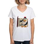 Penny Penguin Women's V-Neck T-Shirt