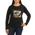 Penny Penguin Women's Long Sleeve Dark T-Shirt