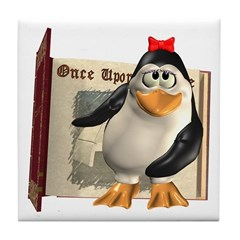 Penny Penguin Tile Coaster