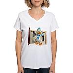 Percy Penguin Women's V-Neck T-Shirt