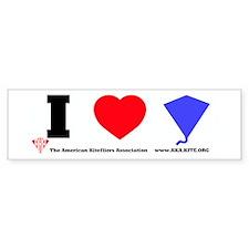 "I ""Heart"" Kites Bumper Bumper Sticker"