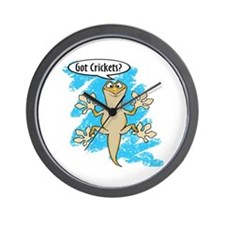Funny Carton Gecko Wall Clock