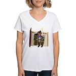 Puss 'N Boots Women's V-Neck T-Shirt
