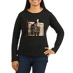 Puss 'N Boots Women's Long Sleeve Dark T-Shirt