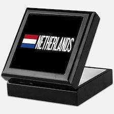 Netherlands: Dutch Flag & Netherlands Keepsake Box