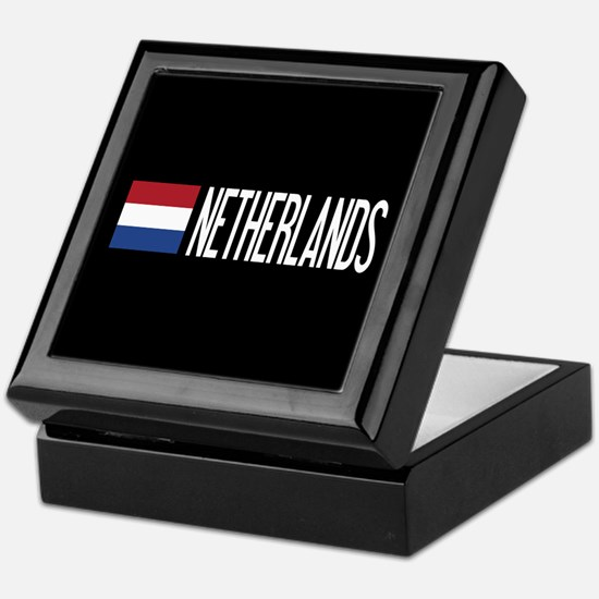 Netherlands: Dutch Flag & Netherlands Keepsake Box