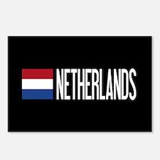 Netherlands: Dutch Flag & Postcards (Package of 8)