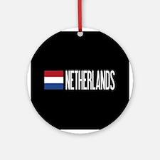 Netherlands: Dutch Flag & Netherlan Round Ornament