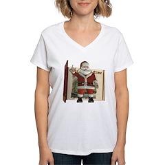 Santa Women's V-Neck T-Shirt