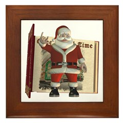 Santa Framed Tile