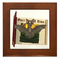 Bennie Bat Framed Tile