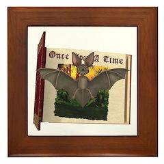 Bennie Bat Framed Tile