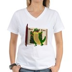 Crawley Croc Women's V-Neck T-Shirt
