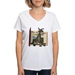 Daisy Donkey Women's V-Neck T-Shirt